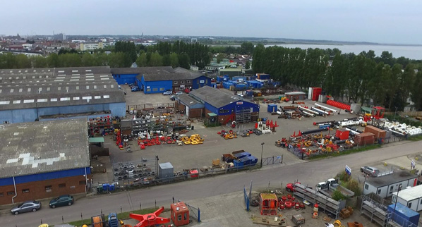 Aerial view of Claxton Engineering in Great Yarmouth