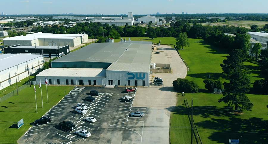 Deepwater Corrosion HQ facility in Houston taken by drone