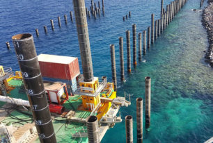 Nearshore marine construction piling services