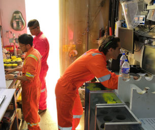 Offshore laboratory testing