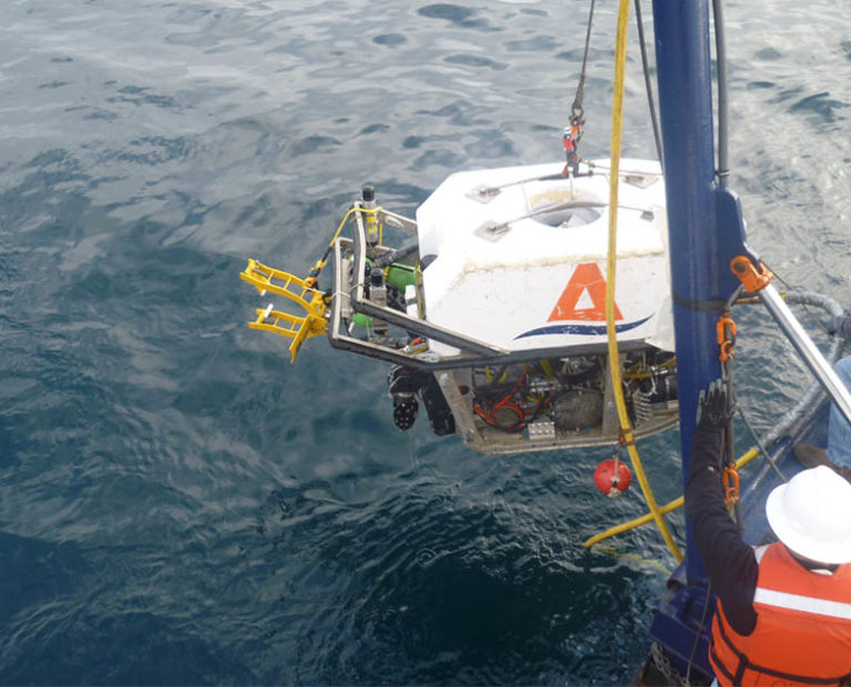 ROV with RetroClamp CP Test Station for Installation from Deepwater