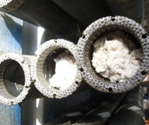 Thin kerf rotary coring