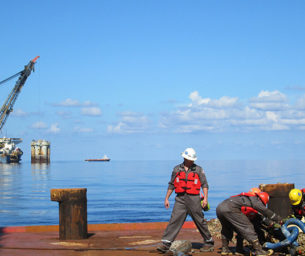 Anadarko's Red Hawk Spar decommissioning
