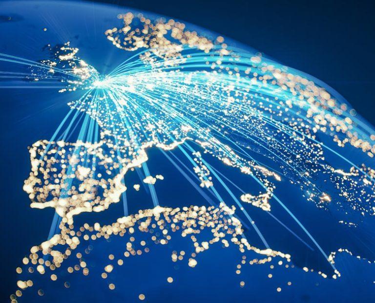 Global Communication From United Kingdom (World Map Credits To NASA)