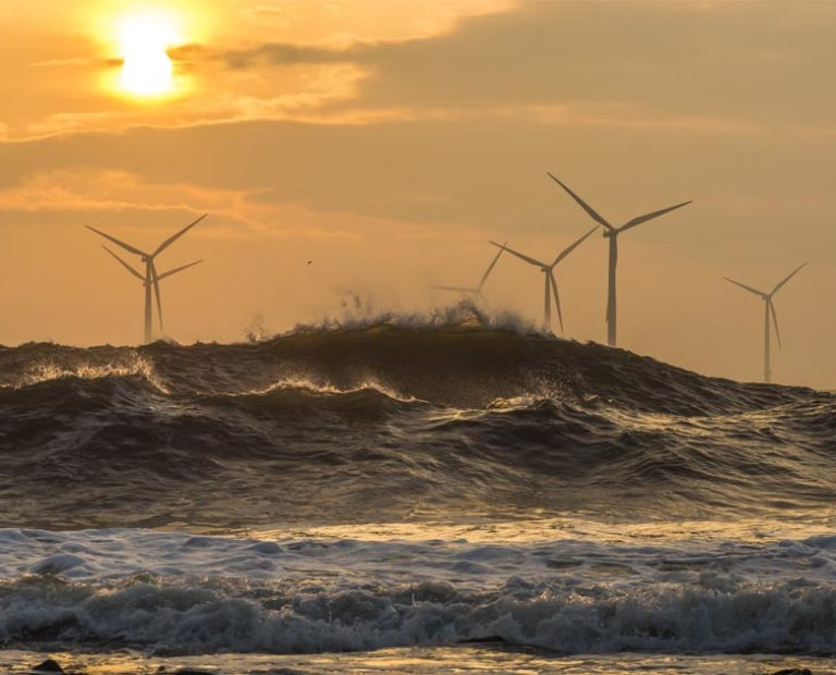 Turbines out to sea