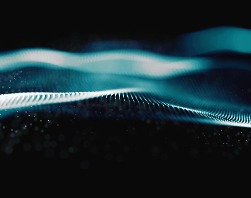 Digital Wave Particles Form