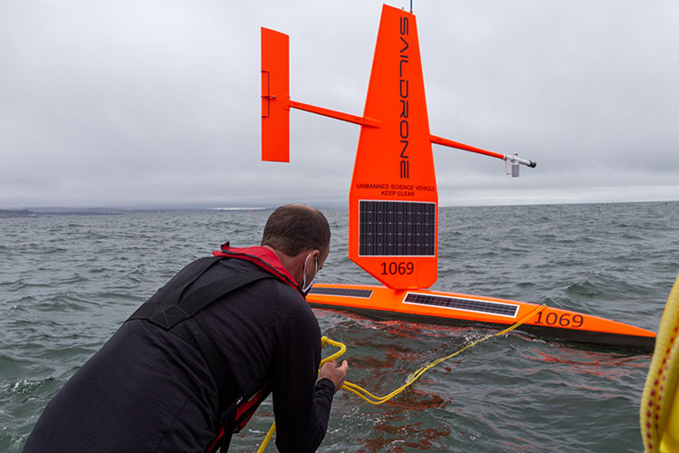 Saildrone deployed during COVID-19
