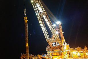 Installation of two deepwater FPSO mooring systems in a single integrated campaign