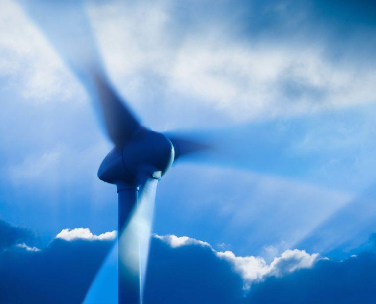 Wind Turbine Stormy Sky