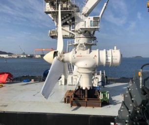 UTEC supports installation of demonstration tidal turbine offshore Japan