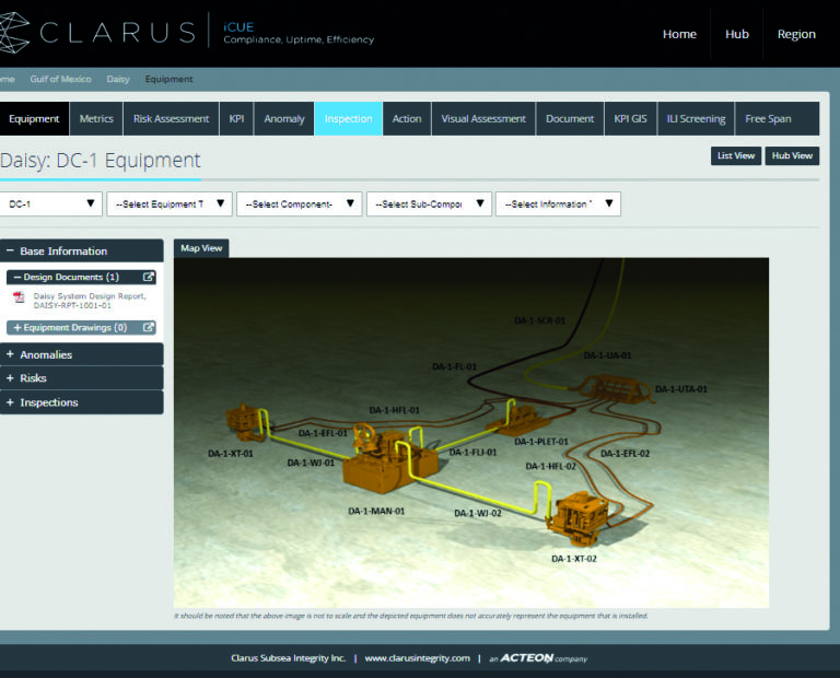 subsea drill center iCUE view